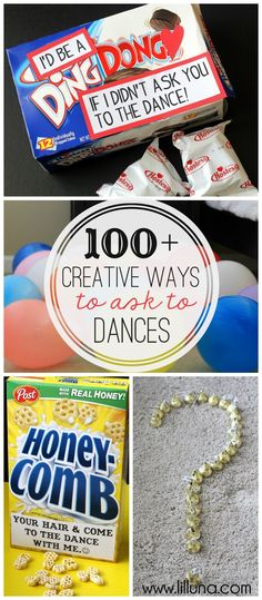 Creative Ways to ask to Dances - a great collection for any teen or college student asking to a school or church dance. High School Dance, School Dances, Asking To Homecoming, Homecoming Ideas, Prom Ideas Asking, Dance Proposal, Hoco Proposals, Homecoming Dance, Prom Posals