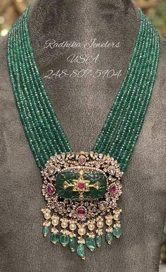 Silver Wedding Jewelry, Gold Jewelry Simple, Emerald Jewelry, Bridal Jewelry, Beaded Jewelry Designs, Jewelry Design Earrings, Necklace Designs, Jewlery, Chocker Necklace