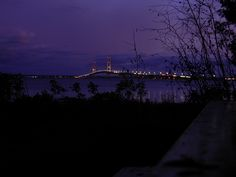 View from campsite 18A at Straits State Park.. Mackinaw Bridge