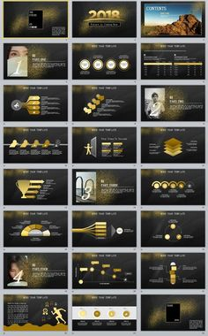 24+ Glod company business report PowerPoint Template