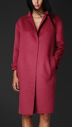 Пальто-кабан из ангоры и шерсти | Burberry