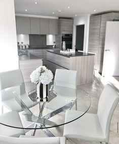 Small House Interior Design, Dream House Interior, Luxury Homes Dream Houses, Dream Home Design, House Design, Decor Home Living Room, Living Room Kitchen, Home Decor Kitchen, Home Kitchens
