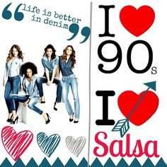 Life is better with Denim and Salsa! I love the 90s I love #salsajeans