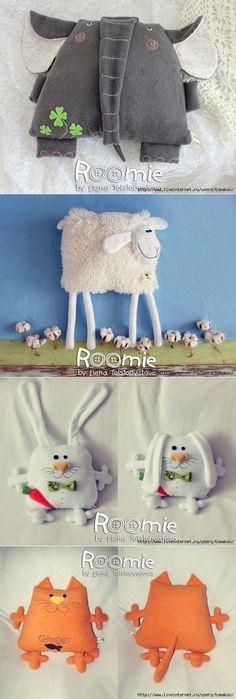 Игрушки-подушки Roomie