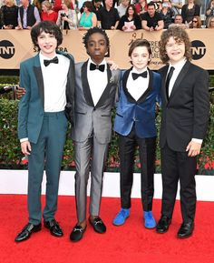 Finn Wolfhard Photos - (L-R) Actors Finn Wolfhard, Caleb McLaughlin, Noah Schnapp, and Gaten Matarazzo attend The 23rd Annual Screen Actors Guild Awards at The Shrine Auditorium on January 29, 2017 in Los Angeles, California. 26592_008 - The 23rd Annual Screen Actors Guild Awards - Arrivals