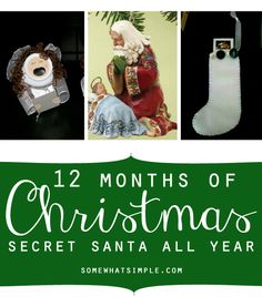 Love the idea of doing secret Santa all year long!