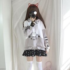 Come across styles hoodies for mothers of the period, modern hoodies compilation. We have gorgeous as well as cheap hoodies for girls in order to keep a person stylish. Pastel Goth Outfits, Pastel Goth Fashion, Lolita Fashion, Pastel Goth Clothes, Harajuku Fashion, Japan Fashion, Pretty Outfits, Cool Outfits, Cute Fashion
