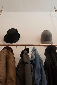 Do it yourself: Garderobe aus Kupferrohr www.mesdamespottpouri.de