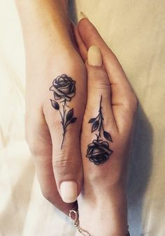 Matching Rose Tattoo by Jordan Huchet