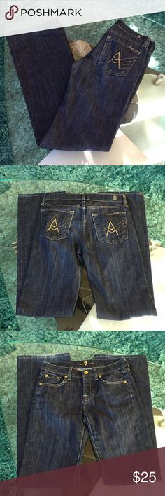 Girls 7 for all mankind jeans Girls 7 for all mankind size 12 inseam 29.5 7 for all Mankind Jeans Boot Cut