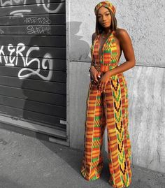 2019 Ankara Beautiful Jumpsuits - Naija's Daily Pictures Of Latest Chic And Trendy Ankara Styles Of 2018 African Prom Dresses, African Dresses For Women, African Wear, African Attire, African Fashion Dresses, African Outfits, African Style, Trendy Ankara Styles, Kente Styles