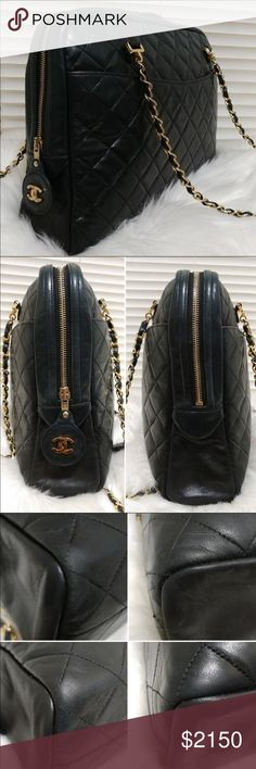778e6c7a24a8 Jumbo Chanel Navy Camera Bag Lamb Chanel bag. In excellent vintage  condition. Purchased from