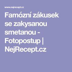 Famózní zákusek se zakysanou smetanou - Fotopostup | NejRecept.cz
