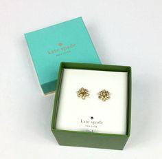 "Kate Spade Womens ""Bourgeois Bow"" Gold Tone Crystals Earrings Box Set O0RU2695 #KateSpade #Stud Earring Box, Kate Spade Earrings, Crystal Earrings, Bows, Crystals, Frame, Ebay, Color, Women"