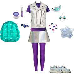 Zenon, Girl of the 21st Century by sugarscreamer on Polyvore featuring C.R.A.F.T., Yves Saint Laurent, Topshop, River Island, Isolated Heroes, L. Erickson, Urban Decay, Darice and Lime Crime