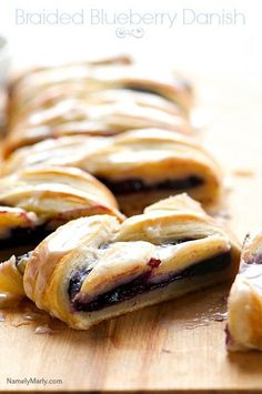 Vegan Braided Blueberry Danish #vegetarian #recipe #vegan #recipes #healthy