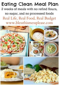 Eating Clean Meal Plan: Spring/Summer Menu - normal and family friendly recipe for 2 weeks that are all clean!
