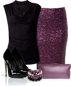 """Purple Sequin Skirt"" LOVE THIS!!!"