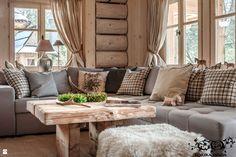Salon styl Rustykalny - zdjęcie od Górska Osada - Luxury Chalets in Tatra Mountains - Salon - Styl Rustykalny - Górska Osada - Luxury Chalets in Tatra Mountains