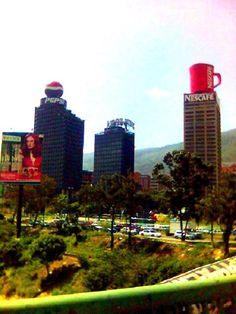 Vista de La Plaza Venezuela, en retro! Caracas