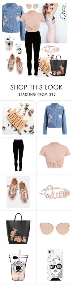 """""""Like a queen"""" by lucieschramek on Polyvore featuring River Island, MANGO, Topshop and Casetify"""