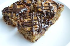 You want chocolate muffins for a snack, you say? Ok, but don't just have one, have three! Oh, and slather some yummy peanut butter on top, too. Bake up a batch of these super sim…
