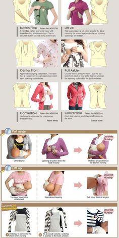 Pr/áctica Camiseta//Top de Lactancia *Uso Sencillo* Ropa Interior de Lactancia Moda Femenina//para Mujer//Maternidad