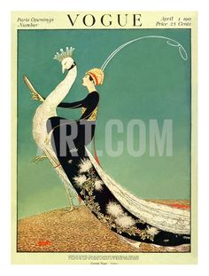Vogue Cover - April 1918 Giclee Print by George Wolfe Plank at Art.com