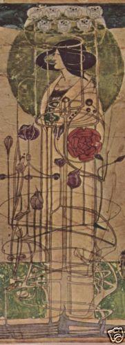 Art-Nouveau-Woman-Charles-Rennie-Mackintosh-circa-1900-Fine-Art-Giclee-Print  $44