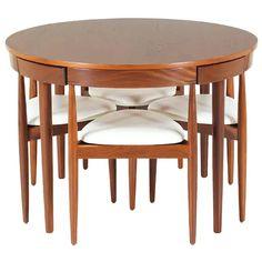 """Hans Olsen """"Roundette"""" Dining Set for Frem Rølje - Esszimmer Dinning Table Design, Modern Dining Room Tables, Walnut Dining Table, Wooden Dining Tables, Dining Chairs, Dining Room Sets, Wooden Dining Table Designs, Round Dining Set, Home Decor Furniture"""