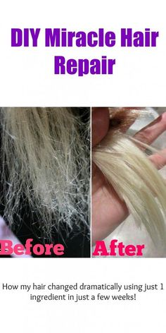 Scalp Remedies riparare i capelli fai da te miracolo - This DIY miracle hair repair will save dry, broken, and damaged hair within just a week using only 1 ingredient! Coconut Oil Hair Treatment, Coconut Oil Hair Growth, Coconut Oil Hair Mask, Olive Oil Hair Mask, Diy Hair Mask, Hair Mask For Damaged Hair, Blonde Hair Mask, Toning Blonde Hair, Yellow Blonde Hair