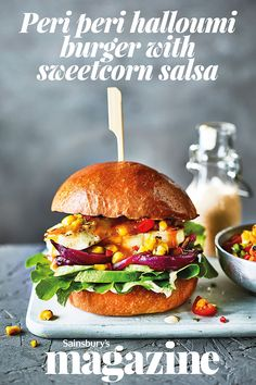 Peri peri sauce gives a spicy kick to this veggie halloumi burger recipe. Grill the different elements on the BBQ for a summer showstopper
