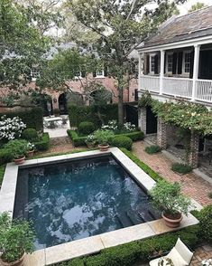 small backyard swimming pool ideas and design 35 Backyard Pool Designs, Small Backyard Pools, Small Pools, Swimming Pools Backyard, Backyard Landscaping, Backyard Ideas, Outdoor Rooms, Outdoor Living, Square Pool