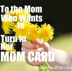 Have you been pushed beyond your limits as a mom? Are you left feeling like the last thing you want to be is a mom? You are normal, and you are in good company. Grab a cup of coffee and let's visit for awhile.