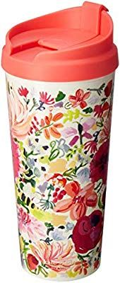 Kate Spade New York Women's Insulated Thermal Travel Mug Tumbler, Dahlia Thermal Travel Mug, Thermal Mug, Kate Spade Logo, Insulated Mugs, Hibiscus Tea, Travel Cup, Old Christmas, Xmas, Starbucks Mugs