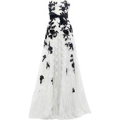 edited by Satinee - Zuhair Murad collection ❤ liked on Polyvore featuring dresses, gowns, long dresses, vestidos, white color dress, white dresses, zuhair murad dresses and long white dress