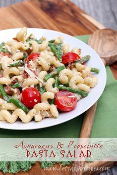 Asparagus and Prosciutto Pasta Salad on MyRecipeMagic.com