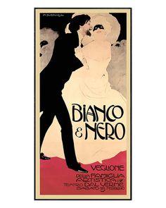 'Bianco & Nero' by Marcello Dudovich  Bedroom art possibility