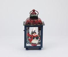 Lanterna de Natal Azul e Vermelha 17 cm   A Loja do Gato Preto   #alojadogatopreto   #shoponline   referência 44265965