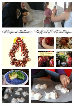 How to magic a halloween party out of limited resources, simple, easy, fun, creative ideas for a last minute or thrifty halloween party or celebration.