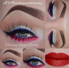 Happy 4th of July, Independence Day makeup from makeupwithtammy