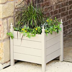Check out this tutorial for making inexpensive outdoor planters.