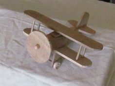 Handmade Wood Toy Biplane by russellhamm on Etsy, $20.00