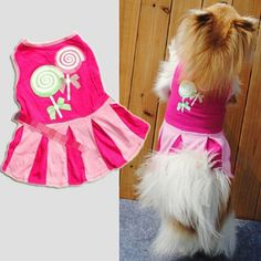 Malloom Candy Pattern Puppy Girl Dog Doggie Apparel Clothes Hoodies Skirt Dress >> Insider's special review you can't miss. Read more  : Costumes for dog