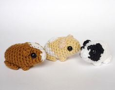 Crocheted guinea pig babies by LunasCrafts on Etsy
