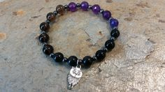 Handmade stretch bracelet natural faceted by RainbowReikiMJ