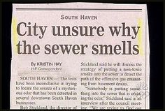 Oh, I don't know.... could it be because it's the SEWER?!?!