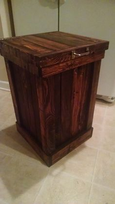 Wood Wooden Kitchen Garbage Can Trash Bin By BuffaloWoodShop | Pallets  Things | Pinterest | Trash Bins, Wooden Kitchen And Woods