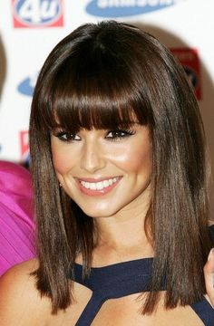 straight bangs with straight brown medium hair - Google Search