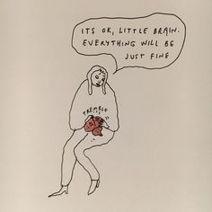 This week's sketchbook drawing by Dibujos Cute, New Yorker Cartoons, Word Art, Art Inspo, Just In Case, Sketches, Sketchbook Drawings, Illustration Art, Positivity